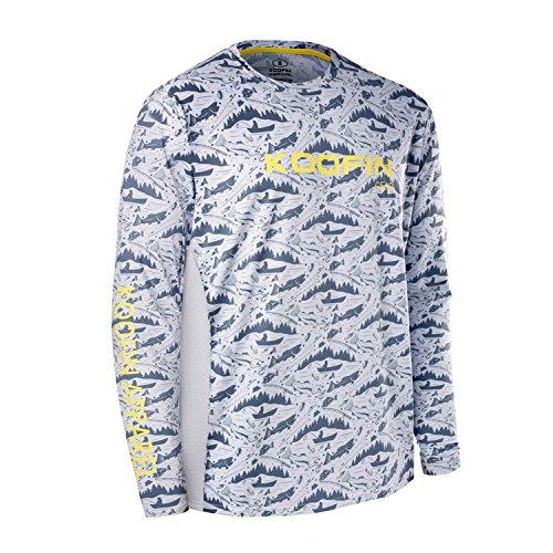 Performance Fishing Shirt UPF 50+ Dri Fit Mens Tech Long Sleeve Shirt UV Sun Protection Quick Dry Mesh Rash Guard Loose Fit