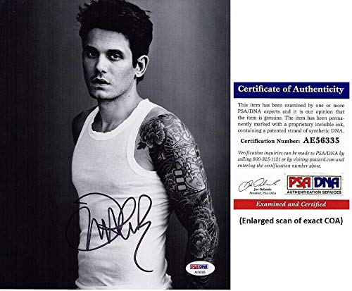 John Mayer Signed - Autographed Singer - Songwriter - Guitarist 8x10 inch Photo - Certificate of Authenticity (COA) - PSA/DNA Certified