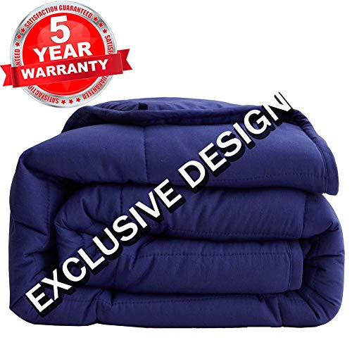 Cheap SONORO KATE Weighted Blanket(20 lbs 60 x80 for Adults Queen Size) - 2.0 Heavy Blanket - 100% Cotton Material with Glass Beads Navy Blue Black Friday & Cyber Monday 2019