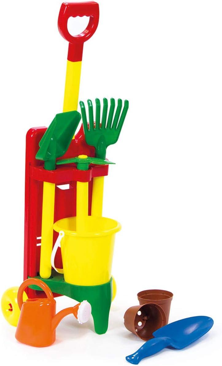 Haberkorn Kinder Gartenwerkzeug im Trolley Schaufel Gieskanne T/öpfe UVM