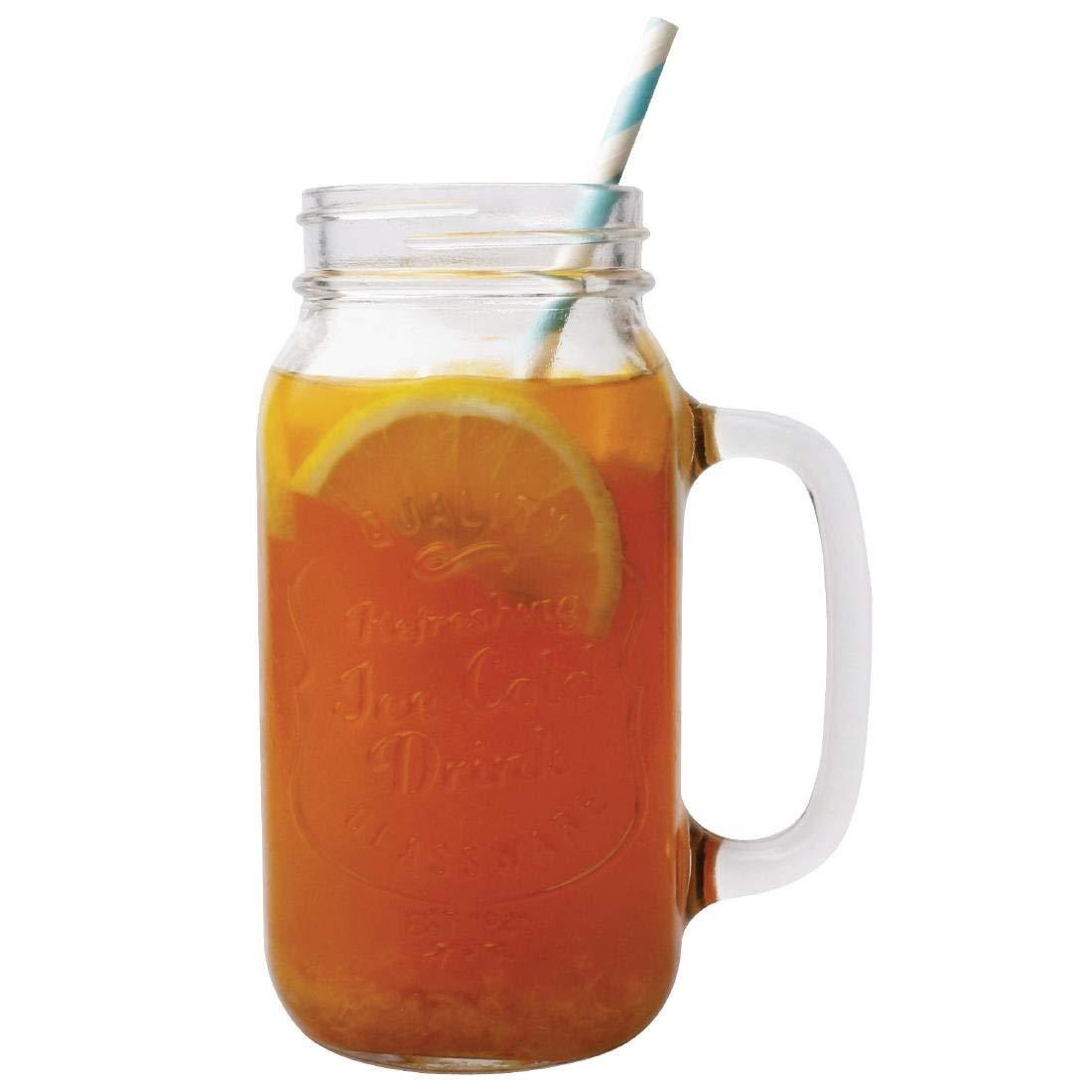 Olympia CM699 Henkel-Trinkglas bedrucktIce Cold Drink 700 ml