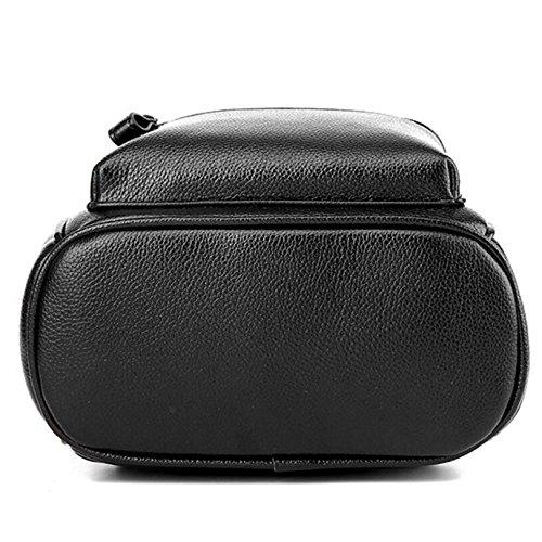 Lady Sac Cuir Bandoulière Backpack Décontracté à Leather Bronze Cute Bag HMWHJP Paquet Travelpack Mini Shoulder Red wIqH4WH5