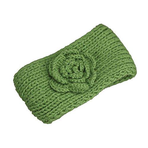 Knitting Turban Headband Crochet Camellia Flowers Hair Hoop Hairband Sunmoot