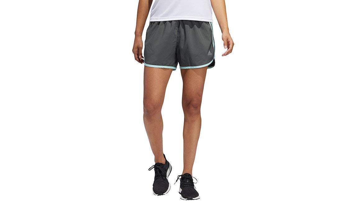 adidas Women's 4'' Marathon 20 Shorts - Color: Legend Ivy/Clear Mint Size: XS