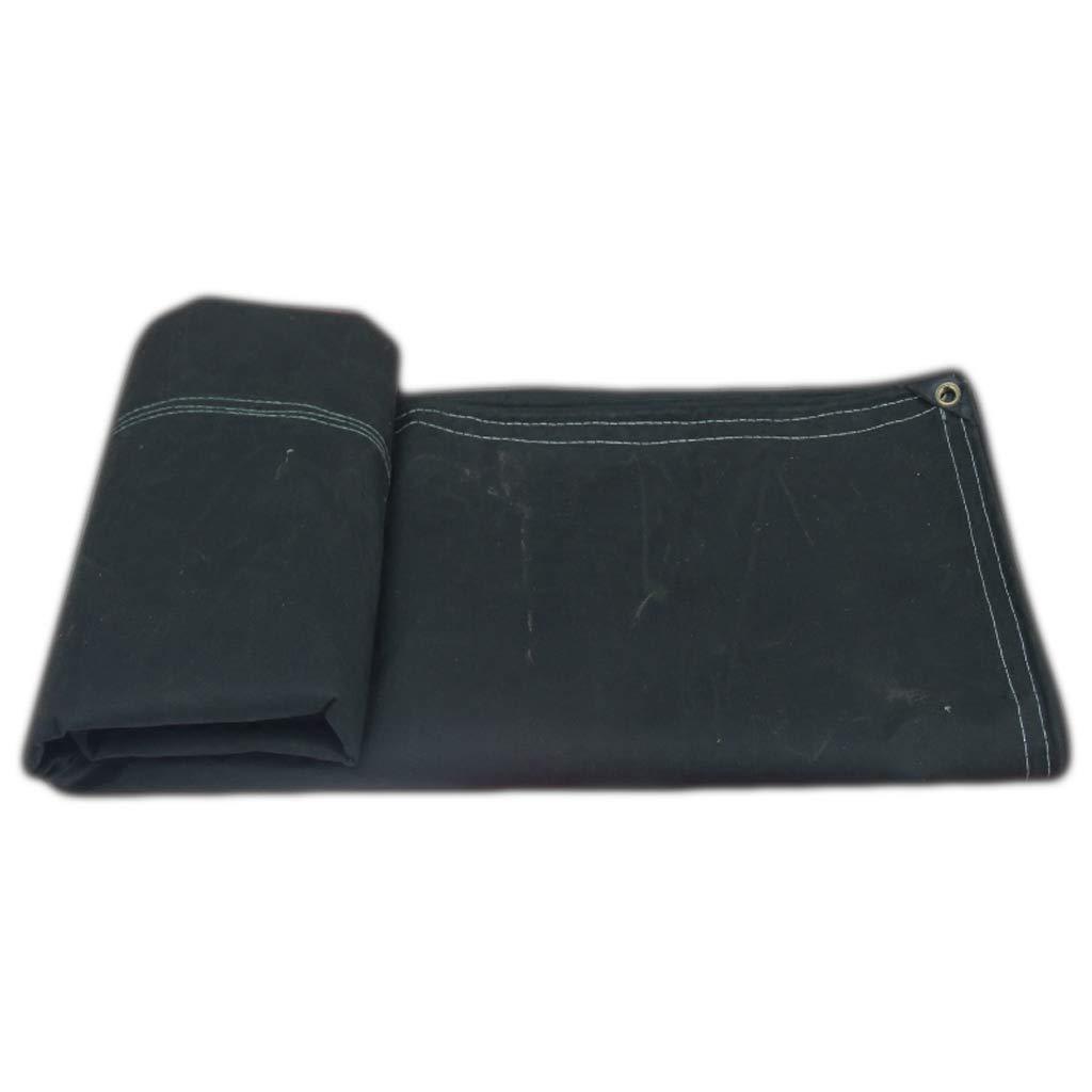 Color : Black, Dimensione : 2 * 3M nera tela cerata resistente allusura e durevole Tela cerata impermeabile resistente allusura e resistente allacqua