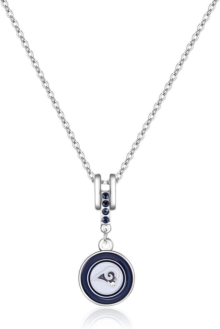"""Pro Specialties Group NFL Dallas Cowboys Charm Necklace Silver, 16"""" Chain - 5/8 x 1 3/8 Charm : Clothing"""