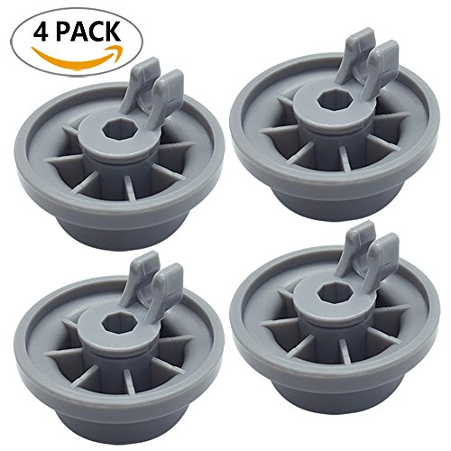 Price comparison product image 165314 4-Pack Dishwasher Lower Rack Wheel Replacement for Bosch and Kenmore Dishwasher - Replaces 00420198 420198 PS3439123