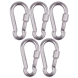 5pcs 304 Stainless Steel M8 Thread Rigging Quick Link Chain Carabiner Connector Silver