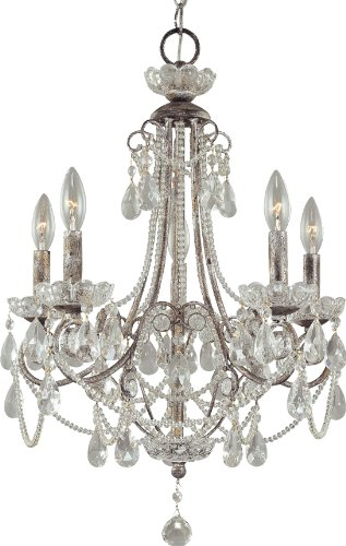 Minka Lavery 3134-207 5-Light Distressed Silver Up Chandeliers