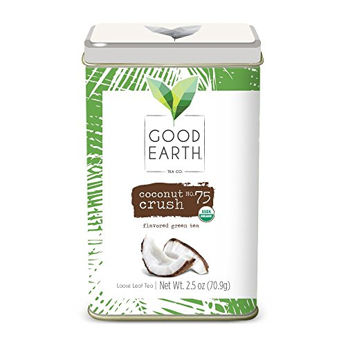 Good Earth Tea Coconut Crush - Premium Organic Loose Leaf - Mild green tea with fresh coconut - - Tea Tea Earth White Good