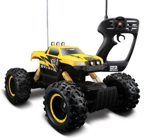 Yellow Color Maisto Remote Control Rock Crawler Off-Road Monster Truck by Maisto Tech by Maisto Tech B00M3CVW3W