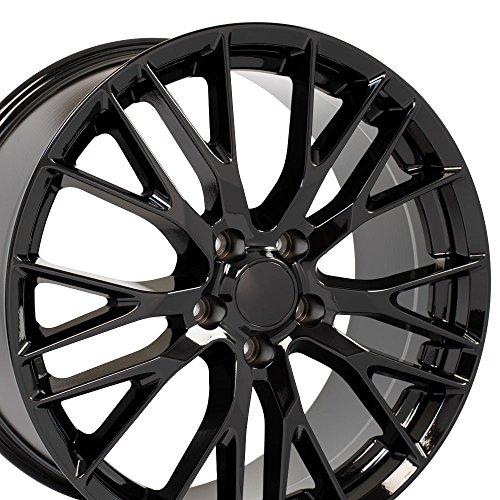 OE Wheels 20 Inch Fits Chevy Corvette Flow Formed C7 Z06 Style CV22C Gloss Black 20x10 Rim Hollander 58982