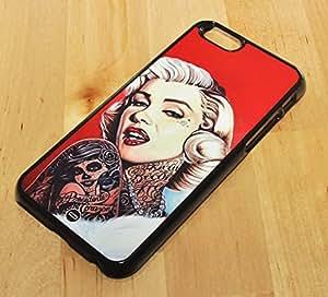 1888998143201 [Global Case] Punk Grunge Marilyn Monroe Alicia en el Pais de las Maravillas Tatuaje Subterráneo Sucio Rebelde Gótico Metal Rock Pesado Música Ariel Blancanieves (TRANSPARENTE FUNDA) Carcasa Protectora Cover Case Absorción Dura Suave para GOOGLE Nexus 6