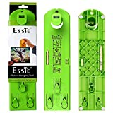 Tools & Hardware : Esste Picture Frame Level Ruler - Suspension measurement marking position tool with pencil and sticker for measuring the suspension and horizontal wall of the roof (Green Ruler+Pencil)