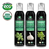 Simply Beyond Organic Spray-On Herbs Seasoning - Taste of Italy, Garlic Basil Oregano, (3 Pack) (Italian, 3 Pack)