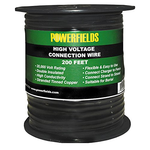 Powerfields R-28 Double Insulated Energizer to Fence High Voltage Connection Wire, 200'