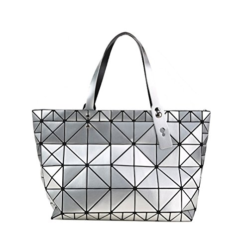 Qualité Argent femelle Diamants Designer géométrique femmes des mosaïque tendance Sac main Sacs Sacs à Silver à bandoulière 8w6PvZ