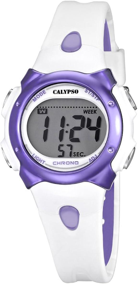 Calypso Girl 's Reloj Digital con Pantalla LCD Pantalla Digital Dial y Correa de plástico Multicolor k5609/2