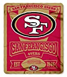 NFL San Francisco 49ers Marque Printed Fleece Throw, 50-inch by 60-inch