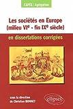 Image de Societes en europe milieu vie siecle fin ixe siecle en dissertations corriges
