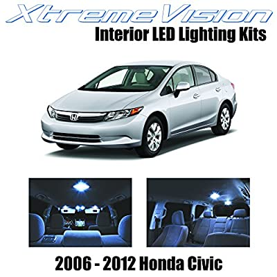 Xtremevision Interior LED for Honda Civic 2006-2012 (6 Pieces) Cool White Interior LED Kit + Installation Tool: Automotive
