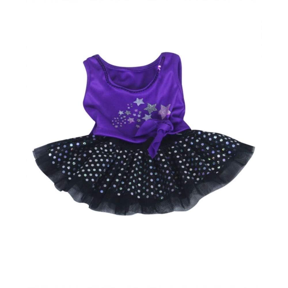 Violeta Estrella Purpurina Top Con Negro Sparkle Falda perro ...