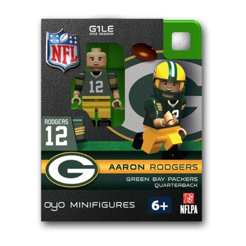 NFL Bay Packers Aaron Rodgers Green Figurine