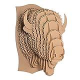 Billy Cardboard Bison Head (Brown, Giant)