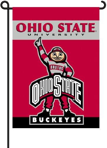 (NCAA Ohio State Buckeyes 2-Sided Brutus Garden Flag)
