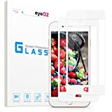 EyeO2 for 7 Plus 8 Plus Screen Protector Tempered Glass Film for Apple 3D Full Coverage HD Clean Protective Accessories High Sensitivity Screen Guard for iPhone 7 Plus 8 plus (White Soft Edge 2 Pack)