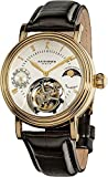 Akribos XXIV Men's AKR493YG Genuine Mechanical Tourbillon Moonphase Watch