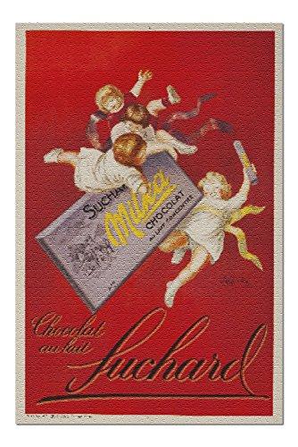 Chocolate au Lait Suchard - Milka (artist: Cappiello, Leonetto) France c. 1925 - Vintage Advertisement (20x30 Premium 1000 Piece Jigsaw Puzzle, Made in USA!)