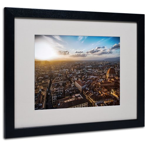 ed Art by Giuseppe Torre with Black Frame, 16 by 20-Inch (Florence Framed)