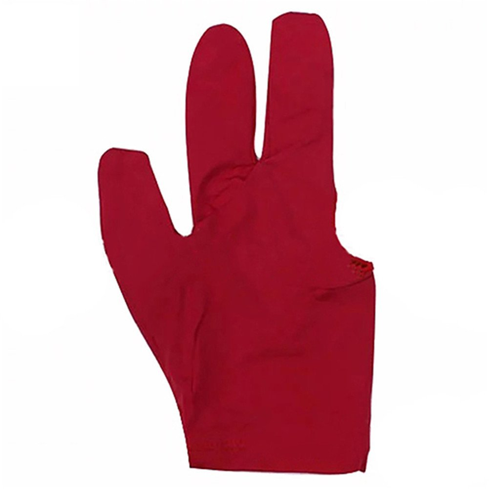 Trenton 3 Fingers Billiards Glove Snooker Cue Gloves Cuetec Pool Glove (Black)