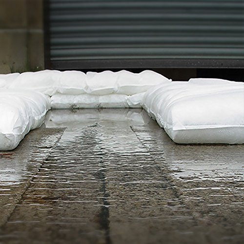 FloodSax FS10R Instant Self-Inflating Sandless Sandbags/Water Absorbent Pads (10 Pack), 19'' x 20'', White by FloodSax (Image #4)