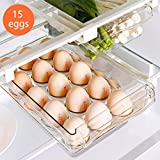 Egg Refrigerator Organizer Bins with Handle, Mini