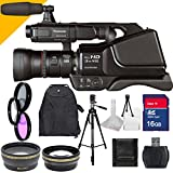 Panasonic Ag-ac8pj with 16gb Sdhc Class 10 Memory Card High Speed, Wide Angle Lens, Telephoto Lens with Full Size 70inch Tall Tripod, Backpack, Filter Kit and More