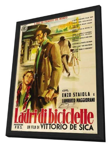 The Bicycle Thief - 11 x 17 Framed Movie Poster