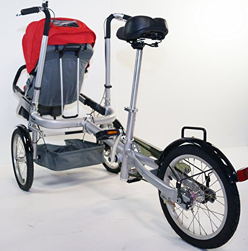 Red Family Stroller Bike for Children 6 Months to 5 Years of Age MCB-01S ALU by USA-MEGASTORE (Image #4)