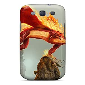 Great Cell-phone Hard Covers For Samsung Galaxy S3 With Provide Private Custom Lifelike Dragon Blade Wrath Of Fire Series JoannaVennettilli