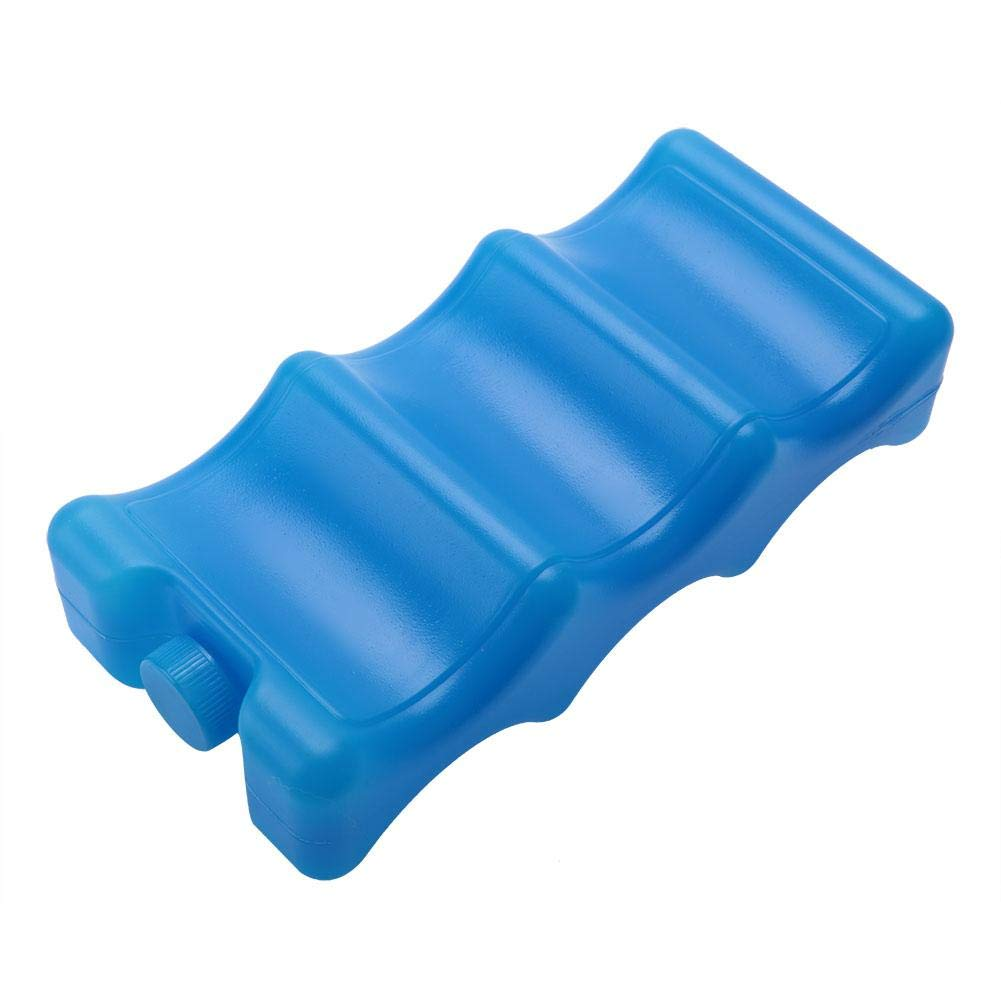 Long Lasting Ice Packs Resuable Freezer Packs Double-Sided Contoured Shaped Fits Around Breastmilk Bottles for Breast Milk Storage Can Coolers Lunch Box Keep Fresh 600ml Blue Double-Sided Contoured