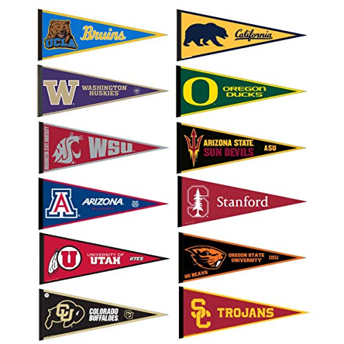 - Pac 12 Conference College Pennant Set