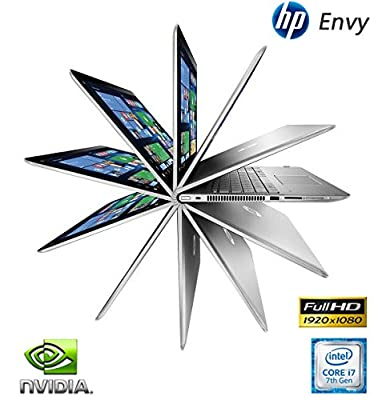 """HP Envy 15t x360 Gaming Convertible Touchscreen Laptop 7th Gen Intel i7 up to 3.5GHz 16GB 1TB 15.6"""" FULL HD B&O Audio NVIDIA 2GB (Certified Refurbished)"""