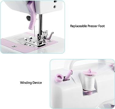 Uten Mini máquina de coser electrónica principiantes 12points ...