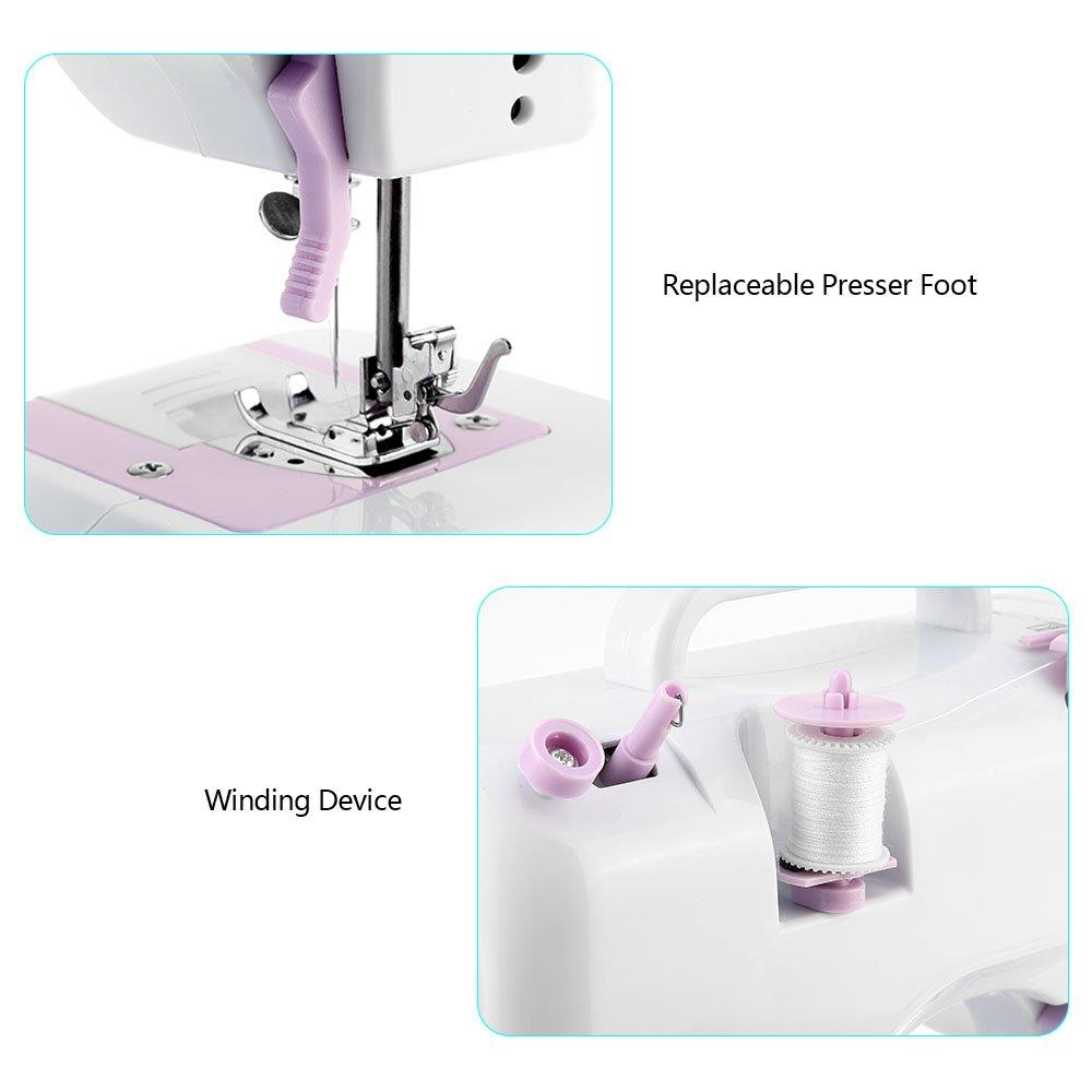 Mini máquina de coser manual electrica maquina coser portatil 12 ...