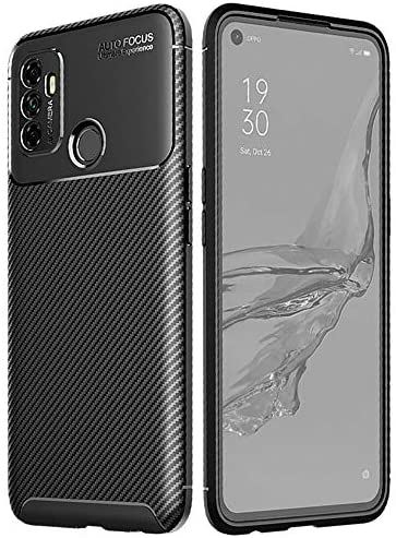 TECHGEAR Carbon Fibre Case for Oppo A53 / A32 [CarbonFlex Case] Flexible, Shockproof, Ultra Slim, Soft TPU Protective Shell Cover with Carbon Fibre Detailing Designed For Oppo A53 / A32