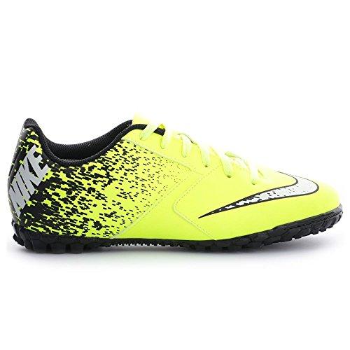 Nike Jr Bombax Tf, Botas de Fútbol Unisex Bebé Amarillo (Volt / White-Black)