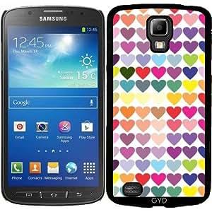 Funda para Samsung Galaxy S4 Active i9295 - Corazones Multicolores by les caprices de filles