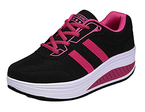 Ace Women's Low-top Pull-on Platform Tennis Shoes Fashion Sneakers (9.5,