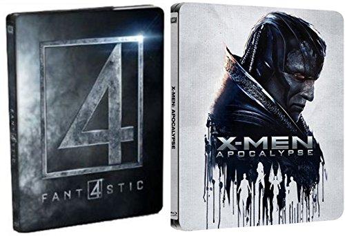 X-Men Apocalypse Exclusive Steelbook + Fantastic 4 Four Blu Ray Marvel Double Feature Exclusive Steelbook Set